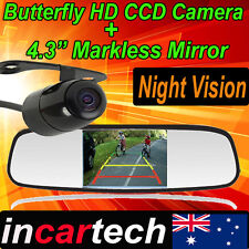"""4.3"""" LCD Car Rear View Mirror Monitor + Butteryfly Reverse Camera Night Vision"""