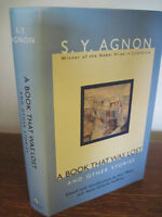 1st Edition Book That Was Lost S.Y. Agnon Stories Nobel Prize First Printing