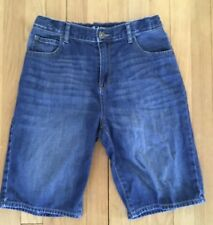 Children's Place Boys Adjustable Waist Denim Shorts Boys 18 Slim EUC
