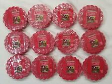 Yankee Candle Tarts: RED RASPBERRY Wax Melts Lot of 12 Red New Fruit