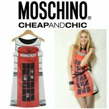 Moschino Telephone Print Sleeveless Dress