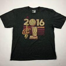 Adidas Mens Gray Short Sleeve Cleveland Cavaliers 2016 NBA Champion T Shirt XL