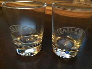2 Stück Baileys Glas Gläser Shotglas Stamper