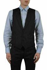 Dolce & Gabbana Men's Black Silk Four Button Vest US 38 IT 48