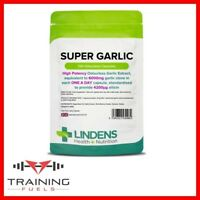 Lindens Super Garlic 6000mg 120 Capsules High Strength Odourless Heart Support
