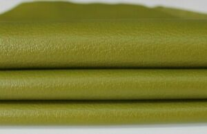 PEBBLE GRAINY PISTACHIO Lambskin Lamb Sheep leather skins 7sqf 0.6mm #A6660