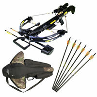 SAS Troy 370 Compound Crossbow 185 lbs 4x32 Scope W/ Free Bag + Extra 6x Bolts