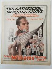 1915 Williams holder top shaving stick satisfactory morning shave vintage ad