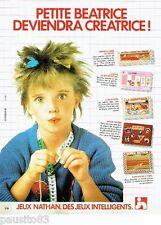 PUBLICITE ADVERTISING 116  1983  les jeux educatifs Nathan   jouets