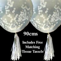 Silver Confetti Balloons - 25th Anniversary, Engagement Party Wedding Decoration