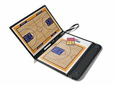 PU Leather Tactical Coach Basketball Board w/ 2 Magnetic Makers & 2 in 1 Pen