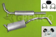 Komplette Auspuffanlage + Montagesatz SEAT IBIZA 6K 1.0 1.3 1.4 1.6 1.9D Auspuff