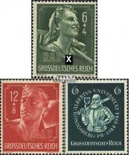 Duitse Rijk 894-895,896 met gomstrook 1944 Fietsen, Koningsbergen