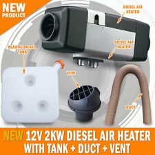 NEW 12 Volt 2KW Diesel Air Heater, Tank, Vent, Duct Thermostat Motorhome Planer