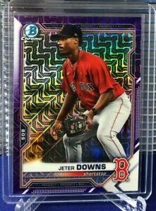 2021 Bowman Chrome Mega Box Mojo Refractor JETER DOWNS PURPLE #092/250 Red Sox