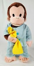 """Gund Curious George Monkey in Pjs Pajamas with Blanket 16"""" Character Plush"""