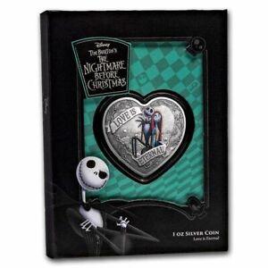 Niue - 2021 - 1 OZ Silver Proof - Nightmare Before Christmas - Love is Eternal
