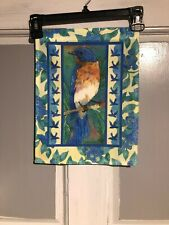 Mini Garden Yard Flag New Robin With Blueberries Free Fast Shipping