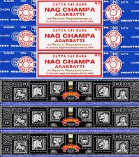 45 gm Super Hit Incense & 45 gm Nag Champa Satya Sai Baba 6 Boxes 15gm per Box