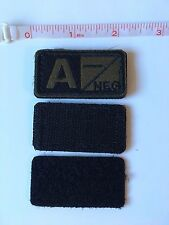 Tactical Blood Type Embroidered Velcro Patch: A Negative  (A-)