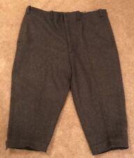 Vintage Charcoal Grey Men's Cross Country Ski Knickers Pants, L, XL