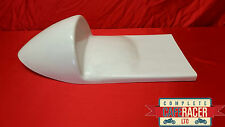 WHITE MANX NORTON WIDELINE STYLE CAFE RACER SEAT - WIDER TO FITTING