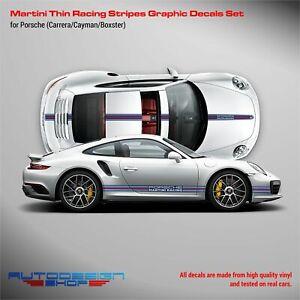 THIN Martini Racing stripes LOGO kit for Porsche Carrera / Cayman / Boxster