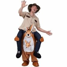 Adult Carry Me Unisex Kangaroo Fancy Dress Costume Funny Ride On Novelty