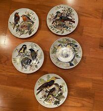 Bradford Exchange Collector Plates U. Band Birds Set of 5 1985/1986 Mint Bradex