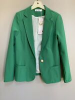 NEW! Calon Diana Womens One Button Green Career Blazer XS Size Long Sleeve