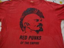 Vintage RED PUNKS OF THE EMPIRE rare punk rock concert tour communist T Shirt L