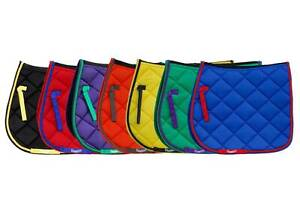 Rhinegold Carnival Quilted Saddle Pad Cloth - Bright & Colourful - Royal Green