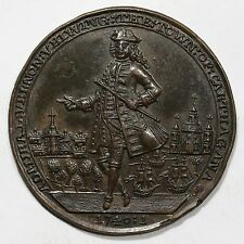 1740-41 Betts-334 Admiral Vernon Cartagena Forts Destroyed Medal