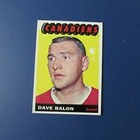 DAVE BALON  1965-66 Topps  # 72   Montreal Canadiens  1966 65-66 1965  EX/MT