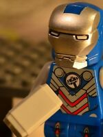Marvel Super heroes DC Iron-Thor Iron-Man homage figure US Seller