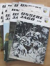 Zeitschrift Unsere Jagd 1973 Marder Wildkatze Fuchs historische Jagdwaffen Hase