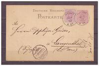 Deutsches Reich Ganzsache P 12 ZuF Illfurth Elsass nach Langenthal Schweiz 1883