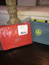 NWT TORY BURCH ERICA SHOULDER BAG POPPY RED-$465 & GIFT BAG-12149872