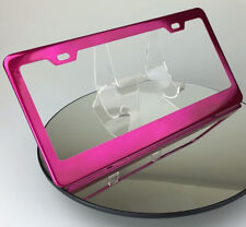 Powder Coated Hot Pink Stainless Steel License Plate Frame Holder Lexus Porchse