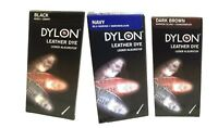 Dylon Leather Shoe & Boot Dye Various Colours - Black - Navy Blue Dark Brown