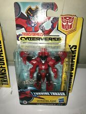 "Transformers Cyberverse Scout Class WindBlade 4"" Figure New Turbine Thrash mint"