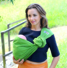 Walkabout Baby Ring Sling Carrier Pouch Wrap Cotton Olive Newborn To Toddler