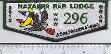 OA (BSA) Nayawin Rar # 296 -- 2012 NOAC Delegate Trader (green border)