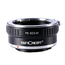 Adapter for Pentax PK Lens to Canon EOS M EF-M M1 M2 M3 Camera by K&F Concept