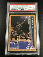 SHAQUILLE O'NEAL SHAQ 1992 FLEER TEAM SHEETS PERFORATED ROOKIE RC PSA 10 RARE