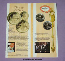 1989 ROYAL MINT SPECIMEN BILL AND CLAIM OF RIGHTS £2 COIN PACK - Scarce