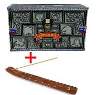 Satya SUPER HIT Incense Sticks Box Of 12 Packs (180G)Agarbathi FREE stick Holder