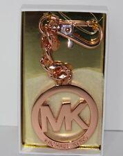 Michael Kors Key Chain Key Fob Charm Signature MK Rose Gold NWT $48