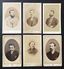 Photo CDV (lot de 6) Portraits hommes de la bourgeoisie XIXème siècle A401