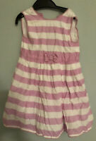 JoJo Maman Bebe baby girl's pink and white striped dress 18-24 months 18-24m 18m